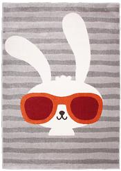 Tapis enfant Lapin à lunette - Clyde : 90.97 € sur CmaChambre.fr